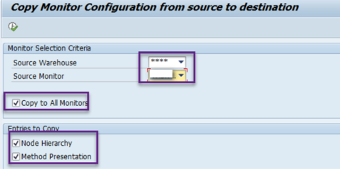 Z-Report to copy configurations of the SAP EWM warehouse monitor