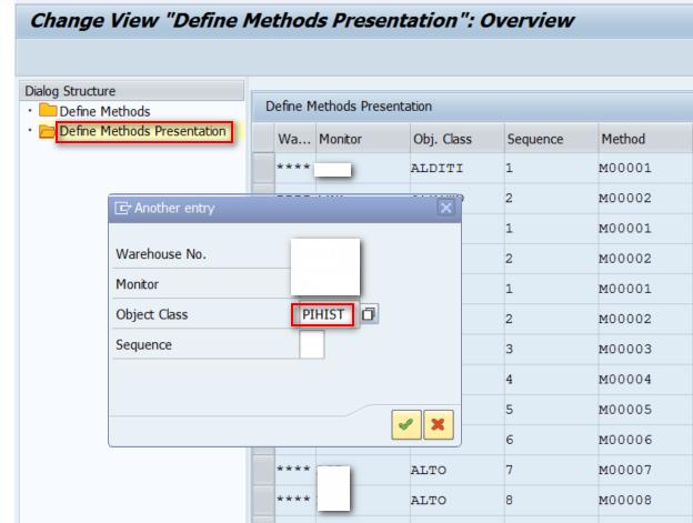 Method appearance in SAP EWM Warehouse Monitor - 03
