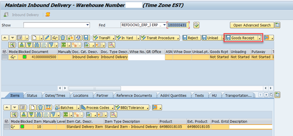 Quality inspection blocking in SAP EWM_2