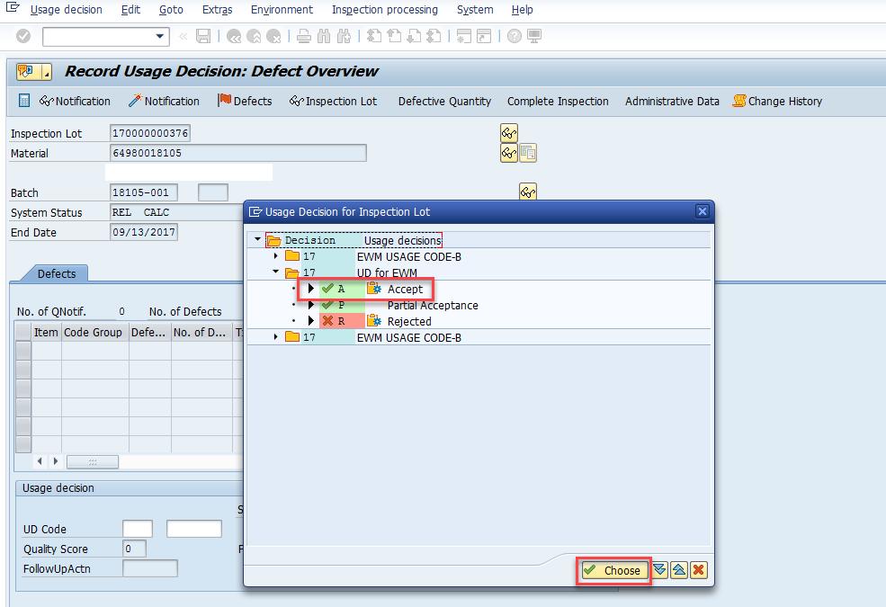 Quality inspection blocking in SAP EWM_7
