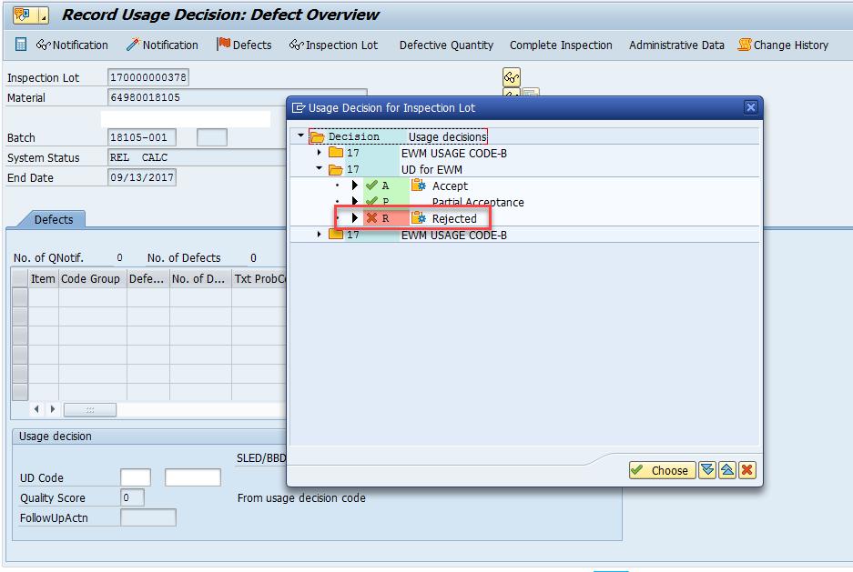 Quality inspection blocking in SAP EWM_10