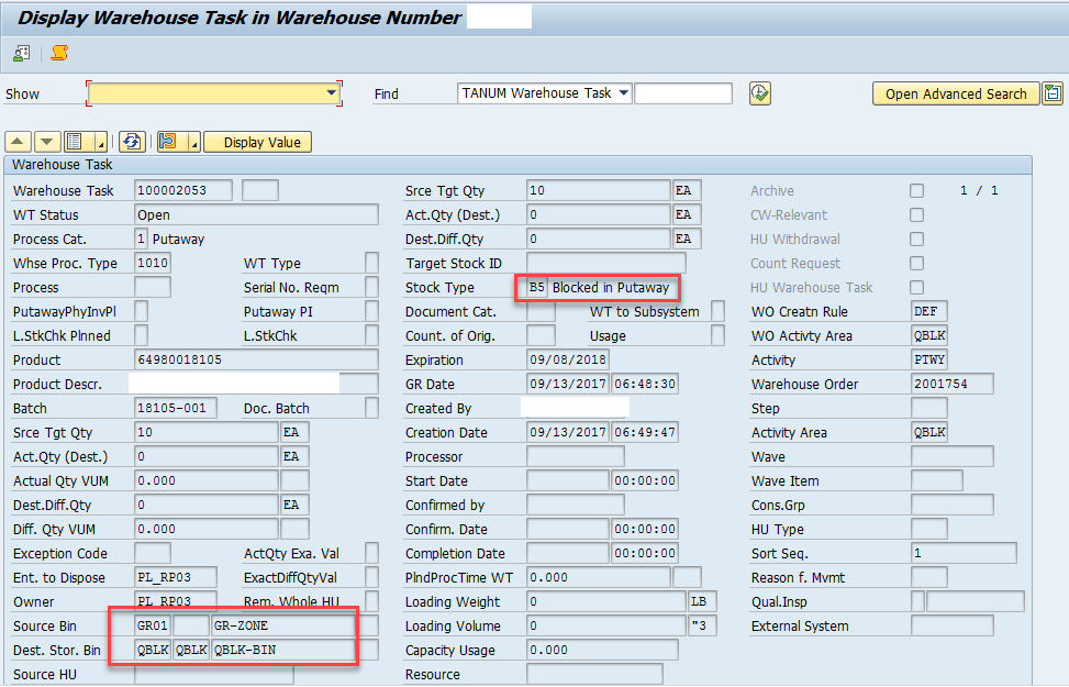 Quality inspection blocking in SAP EWM_11