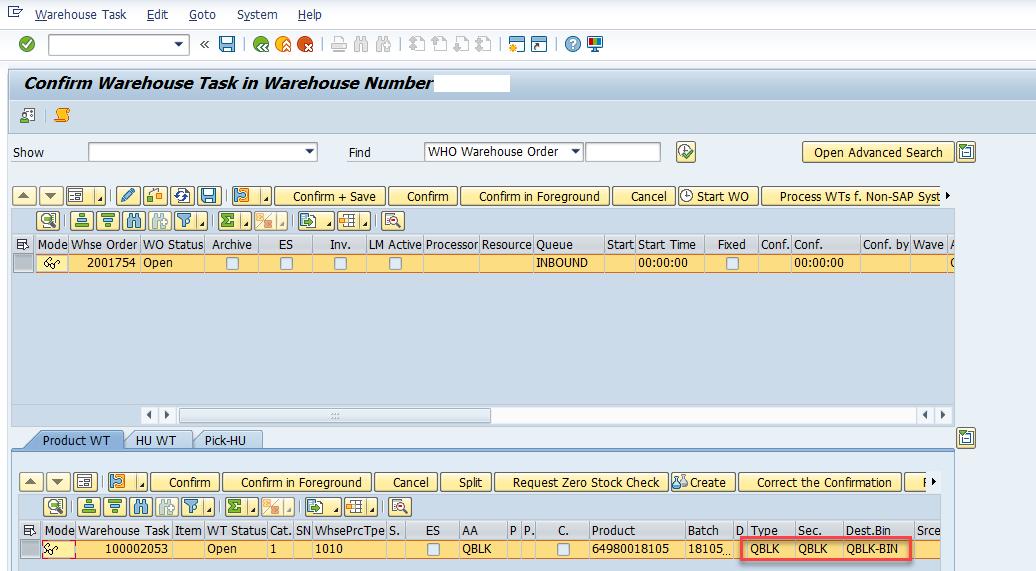 Quality inspection blocking in SAP EWM_12