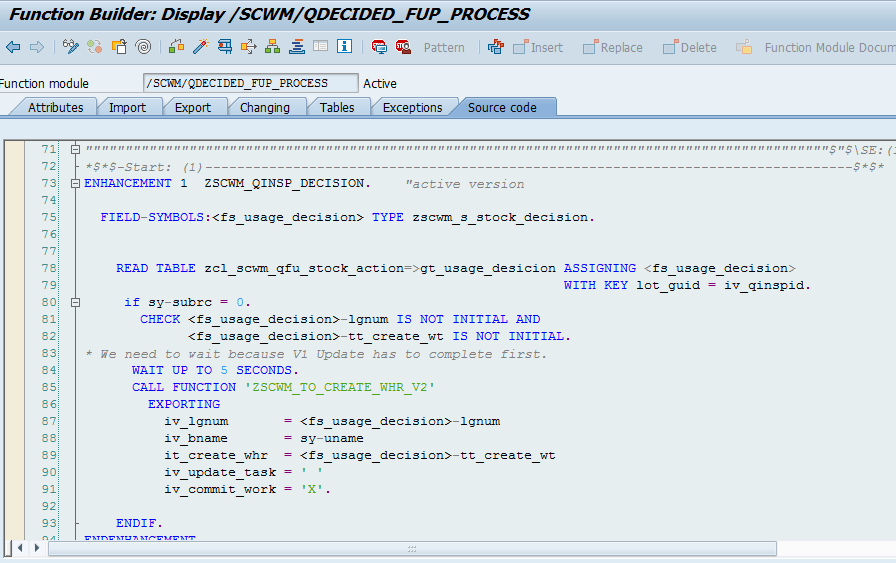 Quality inspection blocking in SAP EWM_18