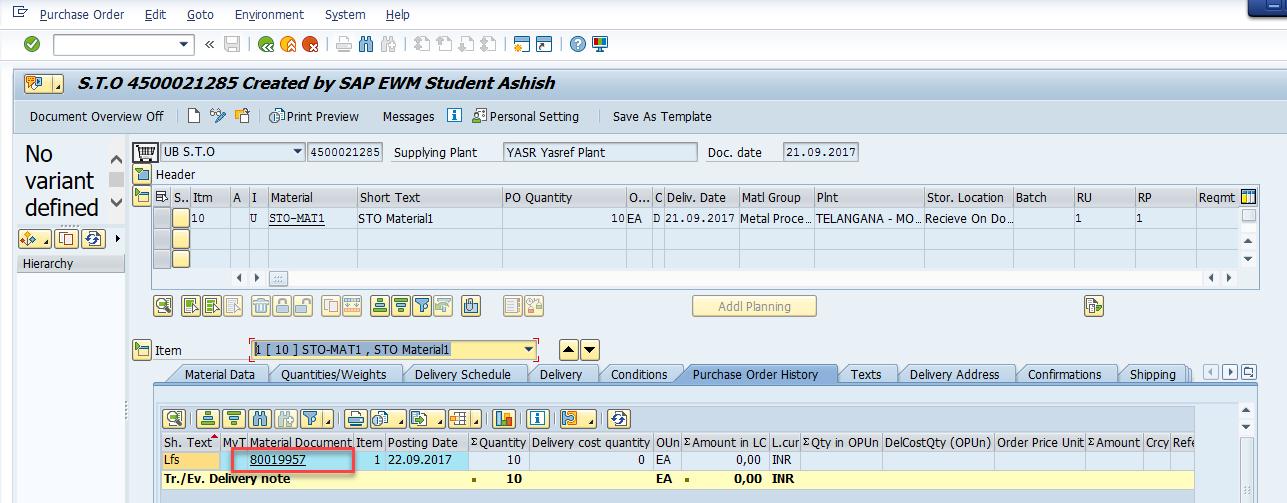 Stock Transport Order process with SAP EWM | WMexperts online