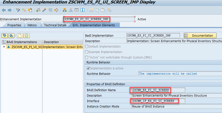 how to add fields to the sap ewm physical inventory screens
