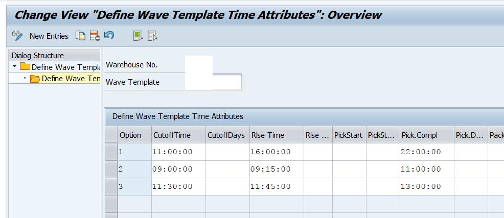 Wave template in SAP EWM 6
