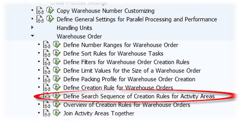 SAP EWM Warehouse order creation rules_26