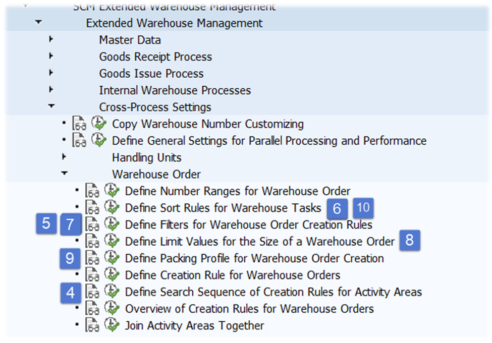 SAP EWM Warehouse order creation rules_29