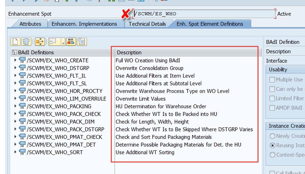 Enhance SAP EWM WOCRs_03