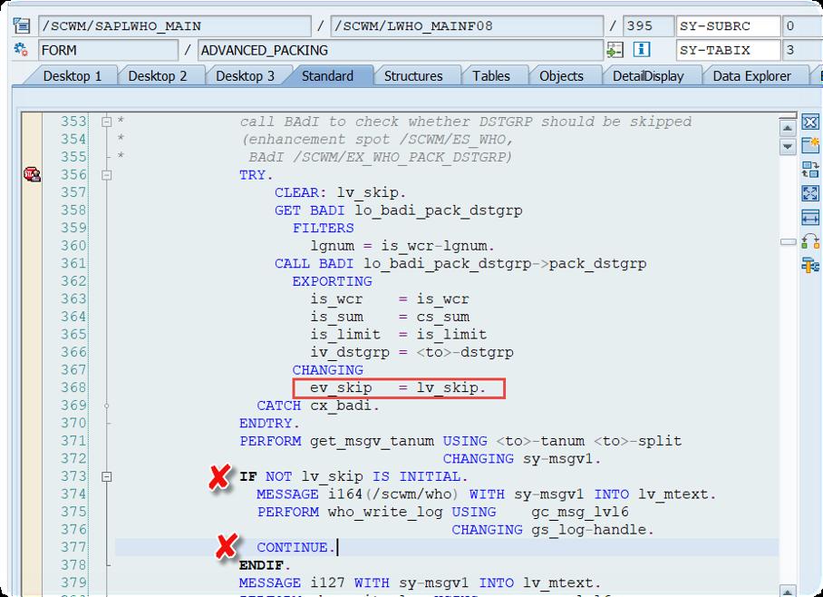 Enhance SAP EWM WOCRs_35